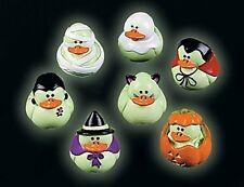12 Halloween GLOW IN THE DARK rubber DUCKS duckies Party Favor Haunted House