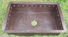 NEW Copper Undermount Kitchen Copper Sink Dark Patina Finish 16 Gauge Copper