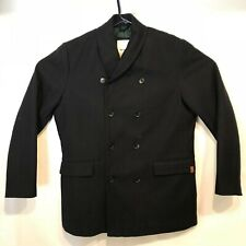 Ben Sherman Double Breasted Mens XXL 2XL Peacoat Wool Dark Navy Jacket Excellent