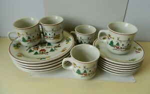 Vintage Luciano Collection Christmas Tea Set