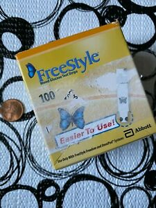 FREESTYLE Blood Glucose Test Strips * 100 Count Box * Expiry 8/31/2022 * SEALED