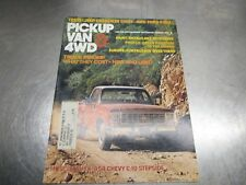 Vintage Pickup & Van 4WD Magazine March 1976 Chevy C10 Jeep Cherokee Chief Ford