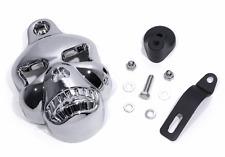 Hupen Abdeckung Totenkopf Skull Chrom  Cover für Harley Davidson Motorrad