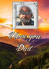 Personalised Photo I Love Dad Graveside Memorial Card with Free Ground Stake F29