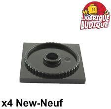 Lego - 4x turntable plaque tournante square base 4x4 noir/black 61485 NEUF