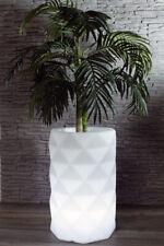 Blumentopf LED Pflanzkübel beleuchtender Blumenkübel Balkon Garten weiß Deko