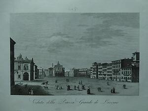 1845 Zuccagni-Orlandini Veduta della Piazza Grande di Livorno