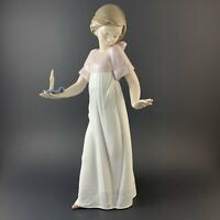 "NAO Lladro ""To Light the Way"" Girl With Candle Porcelain Figurine 1155 Mint A+"