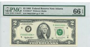 AC 1995 $2 Atlanta FRN *STAR* PMG 66 EPQ Fr 1936-F* 21026