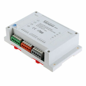 Sonoff 4CH 4-Gang Din Rail Mounting WiFI Switch Home Automation Phone APP ITEAD