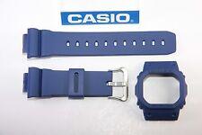 Genuine Casio G-Shock DW-5600M-2 New Blue Watch Band & Bezel Combo DW-5600E