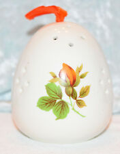 Orange Rose Egg shaped Porcelain Pomander Aromatherapy  Potpourri holder