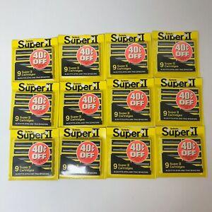 VTG LOT of 12 Schick Super II Twin Blade Replacement Blades/Cartridges NOS