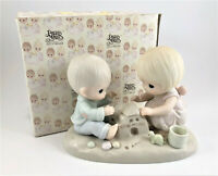 """Retired Precious Moments """"God Bless Our Home"""" Porcelain Figurine 1984 #12319"""