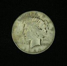 1924-S SILVER PEACE DOLLAR $1 SCARCE DATE SAN FRANCISCO  lot#jp2191685
