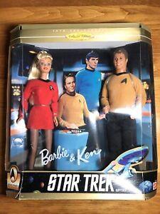 Barbie and Ken   Star Trek Giftset  30th Anniv  1996   Mattel 15006  Damaged Box