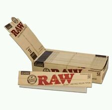 RAW ROLLING PAPER NATURAL HEMP SUPERNATURAL 12 INCH CLASSIC BOX OF 20 BOOKLETS