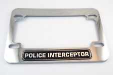 """MOTORCYCLE LICENSE PLATE FRAME /""""FIGHT POLICE BOREDOM RIDE A CHOPPER/"""" HARLEY S/&S"""