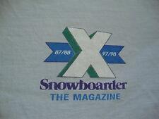 Vintage 90's SNOWBOARDER The Magazine 1998 Skateboard Thrasher RARE T Shirt XL