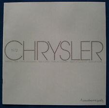 Prospekt brochure 1972 Chrysler Imperiel * New Yorker * Newport (USA) PRESTIGE