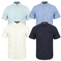 Mens Tokyo Laundry Casual Cotton Shirts Short Sleeve Buttoned Up Collared Tops