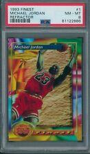 1993/94 Finest Refractor #1 Michael Jordan PSA NM-MT 8 *2886