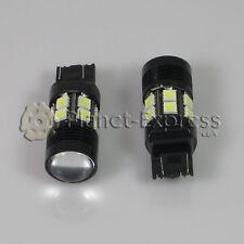 2 x Bombillas 12 LED SMD 5050 + 5W Cree T20 W21/5W Blanco Coche Freno, DRL Xenon