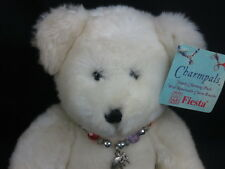 NEW CHARMPALS WHITE TEDDY BEAR SIMPLY CHARMING REMOVABLE BRACELET ELEPHANT PLUSH