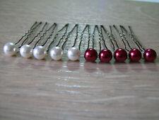 Pics/épingles/accessoires cheveux p robe Mariée/Mariage couleur ivoire/Bordeaux