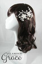 Kimberley vintage wedding silver pearl bridal comb hair accessories headpiece