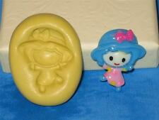 Little Girl Doll Silicone Push Mold A336 For Cake Craft Chocolate Deco Resin