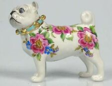 Mops pug porzellanfigur  figur  figura figure gemarkt hundefigur hund rosendeko