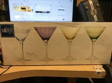 Mikasa Crystal Cheers pastl 3  Martini Cocktail Glasses new other