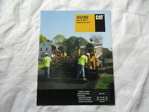CAT Caterpillar AS2302 asphalt  screed brochure