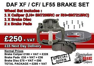 DAF XF / CF/ LF55 BRAKE CALIPER DISC PAD SET SN7205RC SN7215RC 1627245 1627244