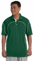 Russell Athletic Men's Polyester Three Button Short Sleeve Polo T-Shirt. 434CFM