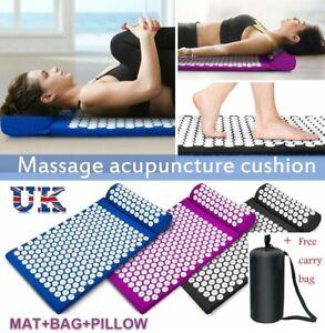 Massage Acupressure Mat Yoga Shakti Sit Lying Mats Pain Release Stress Relief UK