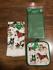 Christmas kitchen towel set and Tablecloth New In Package