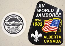 Vintage Set of 2 BSA 1983 XV World Jamboree Alberta Canada Decals