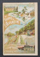 Guide tourisme 1903 DE TOURS A ST AVERTIN et LARCAY Grand Bazar Tours