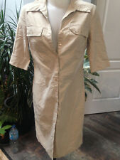 JENNYFER robe femme courte polyester beige manche courte Taille 42