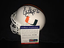 Warren Sapp Signed/Auto University of Miami Mini Helmet Bucs Raiders HOF 13 PSA