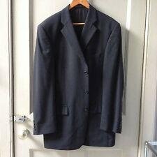 Mens' 42in chest long M&S wool with lycra jacket, jet black - in Edinburgh