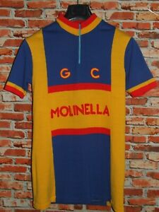 Shirt Bike Shirt Maillot Cycling Heroic Vintage Molinella 50% Wool Patch