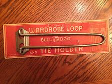 Vtg NOS Bull Dog Swinging Wardrobe Loop & Tie Holder E.H. Tate Farmhouse Hook