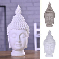 Feng shui Buddha Head Statue Sandstone Figurine Buddhism Sculpture Home decor