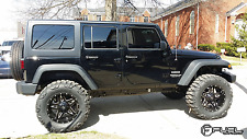 D554 Fuel Full Blown Black 5 Wheels Rim 20x10 5x5 5x127 -12 Jeep Wrangler JK TJ