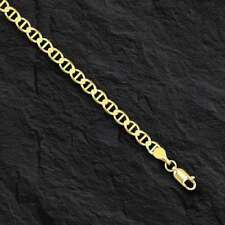 10kt Solid Yellow Gold Anchor Mariner Link Chain/necklace  3.2 mm 16""