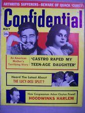 CONFIDENTIAL MAGAZINE MAY 1960 CASTRO RAPE DAUGHTER LUCY DESI SPLIT HARLEM