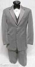 41 R Mens Chaps Light Gray Tuxedo Tux Package w/ Pants Vest & Tie Prom Wedding